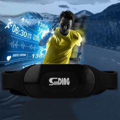 Bluetooth 4.0 Adjustable Wireless Sport Heart Rate Monitor Chest Belt Strap Band black one size