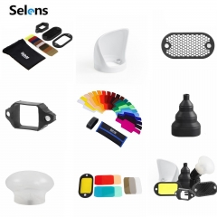 Selens Universal Magnetic Flash Modifier System, Gels Filter, Diffuser, Bounce, Grip, Snoot as picture Grip