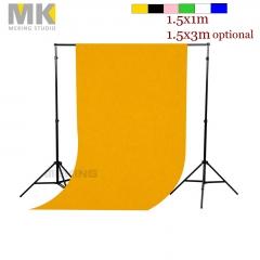 Meking 3x5ft/ 5x10ft Seamless Solid Flocked Cloth Photo Backdrop Background black 1.5x1m
