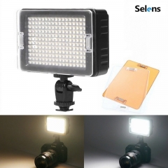 Selens GE-204 Bi-color Video Compact LED Light Lamp for DSLR Camera DV Camcorder as picture one size
