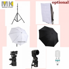Pro Photo Studio Accessories, Light Stand, E27 Bulbs & Holder, Flash Bracket, Umbrella, Softbox 1*Diffuser Umbrella one size