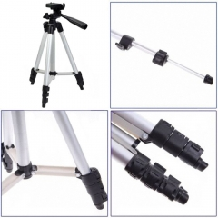 Meking Tripod Universal Flexible Aluminum Portable Camera Travel Tripod Stand + Carrying Bag as picture