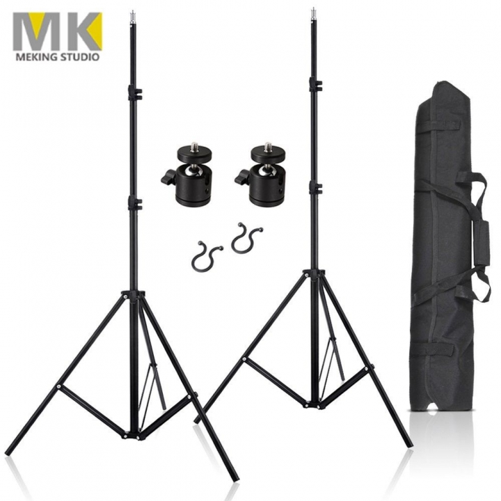 "2x 80"" Lighting Stand Aluminum Tripod Stands for Studio, Softbox, HTC Vive VR as picture one size"