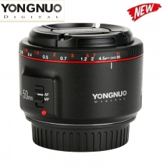 Yongnuo YN50MM F1.8 II AF/MF 0.35M Focus Distance Standard Prime Lens for Canon as picture one size