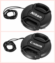 Meking Snap-on Len Lens Cap Cover with Cord Filter for Canon Nikon Camera for Canon 52mm