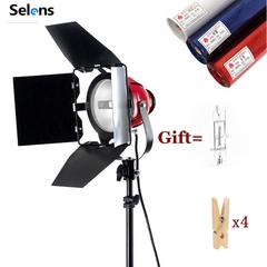 Selens Studio Red head Light 800w Dimmable For Photo Studio Continuous Lighting 3200K with Gifts as picture one size