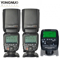 Yongnuo YN600EX-RT II TTL Speedlite Flash Kit  + YN-E3-RT II Transmitter For Canon Camera 2 * YN600EX-RT II + 1 * YN-E3-RT II one size