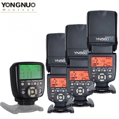 YONGNUO YN560 IV Wireless Speedlite Flash+YN560-TX II Controller For Nikon / Canon 3*YN560IV+YN560TX II for Canon one size