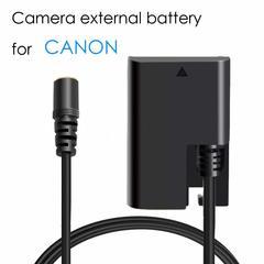 Selens External Portable DC Dummy Battery Pack for Canon EOS 5D3,5D2,7D2, LP-E6 Semi Decoding Power as picture one size