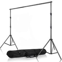 Selens 2Mx2M Muslin Paper Background Backdrop Support System Kit Adjustable Stand & Crossbar W/ Bag as picture one size