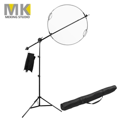 Meking 5PCS/SET Adjustable Photo Studio Extendable Boom Arm Stand Kit for Photography Lighting as picture one size