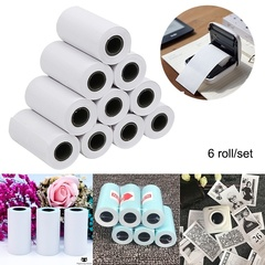 6 Roll/Set 57 * 30mm Thermal Print Sticker Thermal Print Paper for Paperang Thermal Printer as picture 6 roll/set