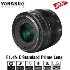 YONGNUO YN50mm F1.4N E Standard Prime Lens Large Aperture AF MF for Nikon Camera as picture one size