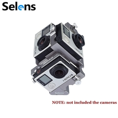 Selens 720 Degree Gopro Rig Spherical Panorama Frame Mount Video Holder Case for Gopro 4 3+ 3 Sale as picture one size
