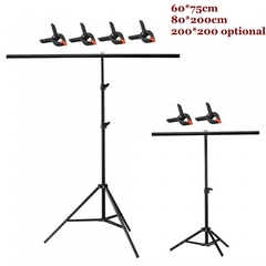 Background Photography backdrop background Aluminum Tripod stant holder with Cross Bar with Clip 80*200cm one size