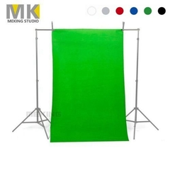 Meking Solid Seamless Muslin Photography Backdrop Background Cotton Cloth black 2mx3m