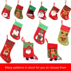 Christmas Stockings Socks Santa Claus Candy Gift Bag Party Decorations Gift with hanging loops 4 pcs 1 one