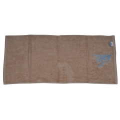 Soft Fluffy Hand Towels Brownness 20*60