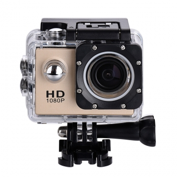 Upgraded Ver. Action Camera 30M Waterproof HD Outdoor 1080P Full DV Sport Camera Like GoPro GW4000 Gold 2.0 inch screen