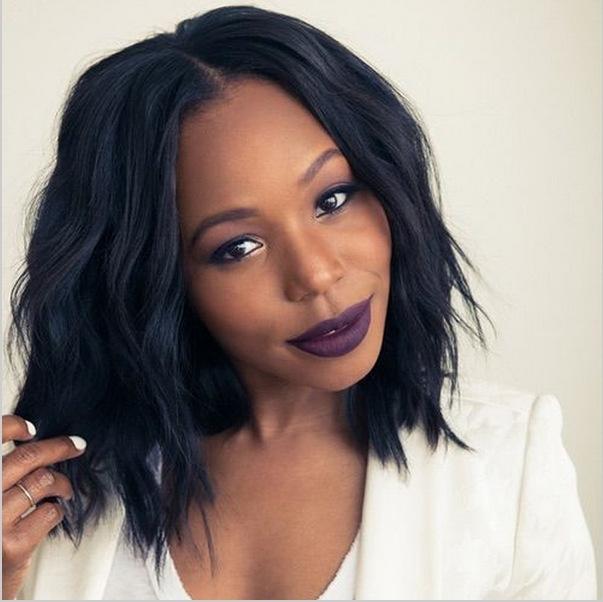 Hair Wigs For Black Women Remy Human Hair Bob Wigs balck one size ... 46ded4129