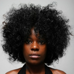 Hot African Fashion 30cm Short Fluffy Cos Wig balck one size