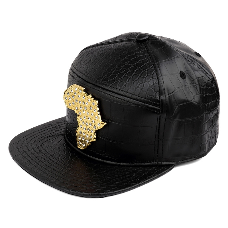 bf53744e26f New style PU Leather Map of African Baseball caps men Diamond Gold snapback  hat hip hop hats black one size  Product No  551077. Item specifics  Brand