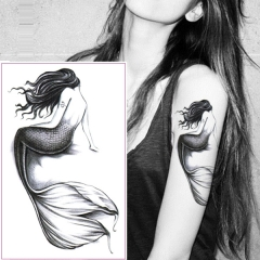Waterproof Temporary Tattoos sticker Nude Mermaid Water Transfer fake tatoo flash tattoo show as the picture