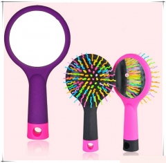Hair Comb Brush With Mirror Anti-static Comb Hair Accessories Care Tools Travel show as the picture one size