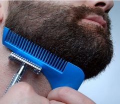 Beard Shaper Facial Hair Shaping Tool  Template Hair cut molding Beard Shaping Comb blue one size