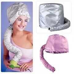Hair Dryer Soft Hood Hair Bonnet Attachment Haircare hair cap Salon Hairdressing hair steamer Silver one size