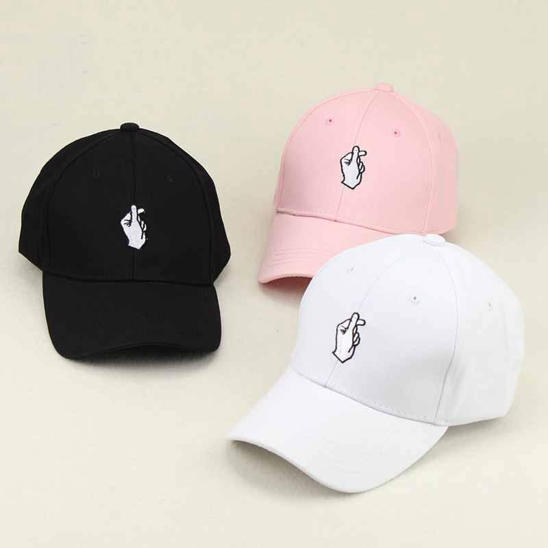 Finger Embroider Golf Baseball Cap Men Women Snapback Hats Flipper ... 80cc721a711