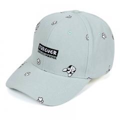 Summer Baseball Cap Women Dog Pattern Cute Snapback Hip Hop Cap Adjustable Bone Gorras light blue