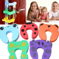 5pcs Kids Cartoon Door Stoper Child Safety Guard Finger Protect  Baby Helper multicolor One size