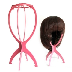 Portable Folding Plastic Stable Durable Wig Hair Hat Cap Holder Stand Display Tool Wig Stand Random one size
