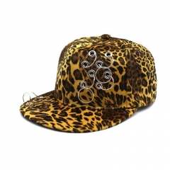 Ring casquette de Baseball Hat Leopard Hip Hop Cap Snapback Sun Hats For Women Sports Outdoors Caps yellow one size