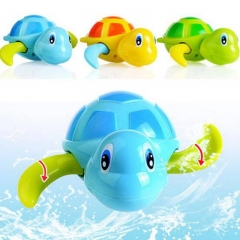 Babies swim turtle wound-up chain small animal Baby Children bath toy swimming pool play bathing toy