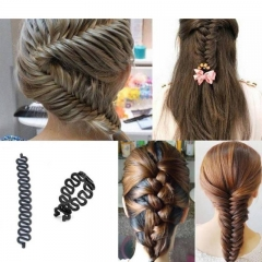 Hairpin Hair Braiding Braider Tool Roller With Magic Hair Twist Accessories  Hair Clips For Girl black one size