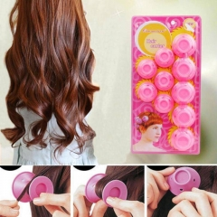 10PCS Soft Rubber Hair Roller DIY Roll Style Roller Hair Curler Hairstyle Soft Styling Tools random one size