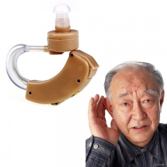 Best Hearing Aids Behind The Ear Sound Amplifier Adjustable Hearing Aid show as the picture One size