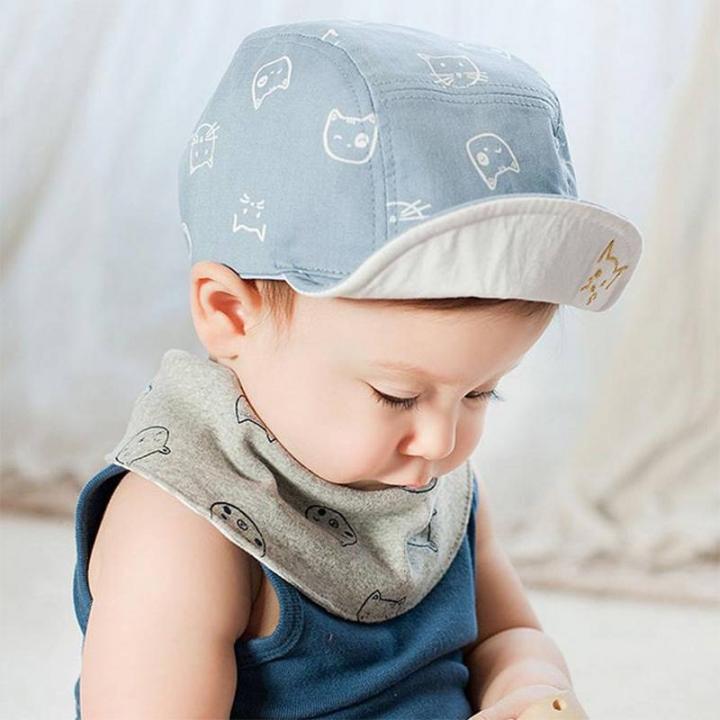 23d9cc99acc Fashion Cat Baby Hats Unisex Girls Boys Baseball Caps Beanie Cartoon Summer  Sun Hat blue one