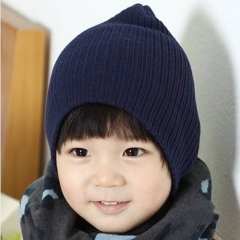 Baby Hat Kids Newborn Knitted Cap Children Beanies Boys Girls Hats Headwear Toddler Caps blue one size