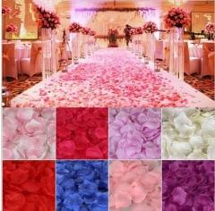 600PCS rose petals wedding decoration silk festival party table table confetti decoration gold one size