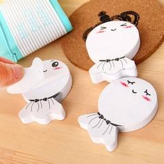 2PCS DIY  Sunny Doll smily memo pad Sticky label post it school sticky note stationery