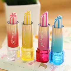 Creative Cute Kawaii Lipstick Rubber Eraser For Kids Student Gift Novelty Item School Supplies random one size