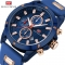 MINI FOCUS Top Luxury Brand Watch Famous Fashion Sports Men Quartz Watches Gift For Male MF0089G Blue one size