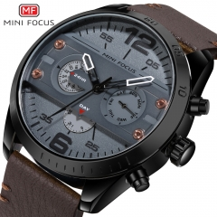 MINI FOCUS Top Luxury Brand Watch Famous Fashion Sports Men Quartz Watches Gift For Male MF0068G gold one size