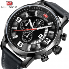 MINI FOCUS Top Luxury Brand Watch Famous Fashion Sports Men Quartz Watches Gift For Male MF0025G white black one size