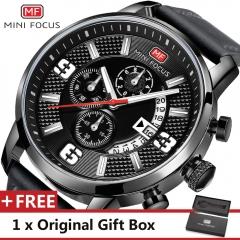 MINI FOCUS Top Luxury Brand Watch Famous Fashion Sports Men Quartz Watches Gift For Male MF0025G white black one size