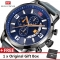 MINI FOCUS Top Luxury Brand Watch Famous Fashion Sports Men Quartz Watches Gift For Male MF0025G blue one size