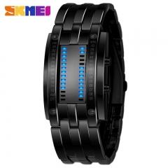 SKMEI Fashion Creative Watches Men Luxury Brand Digital LED Display Lover's Wristwatches SKM0926 Big Black one size